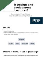 Web Design and Development Lecture 9 a - JavaScript Basics