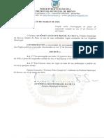 032_DECRETO 30.03.2020 - Prorrogação de Prazo de suspensão contino no Decreto no art 2º do Decreto n.º 027-2020