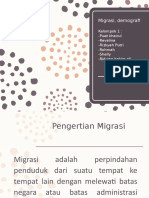 Migrasi, demografi