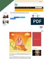 Later Life of Adi Shankaracharya Part 10