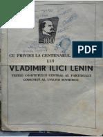 Centenarul Nașterii Lui Lenin