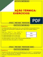 EXERCÍCIOS DE DILATAÇÃO TÉRMICA   PRÉ ENEM  FÍSICA  DUDU 16 04 2020.pptx