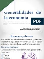 Generalidades de la economía