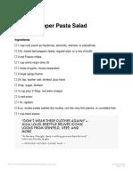 Pepper Pasta Salad Recipe Bon Appetit