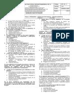 Evaluacion 1er periodo-ciencias sociales QUINTO