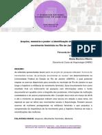 Arquivo, memória e poder - a identificação dos acervos do mov feminista do RJ.pdf