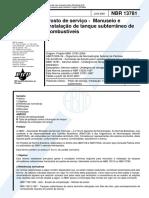 NBR 13781 de 2001 - Instalação de Tanque Subterrâneo.pdf