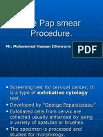 Pap smear procedure