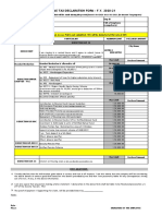 Employee declaration form FY 2020-21