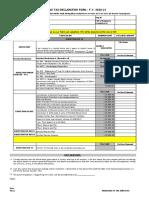 Employee declaration form FY 2020-21