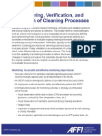 Monitoring, Verification, and Validation of Cleaning