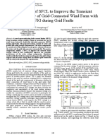 Application of SFCL to improve the transient voltage stability of grid-connected wind farm with DFIG during grid faults.pdf