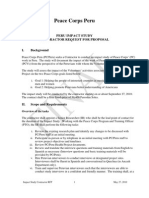 Peace Corps  Impact Study Statement of Work RFP