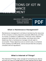 APPLICATIONS OF IOT IN MAINTENANCE MANAGEMENT
