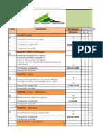 CRONOGRAMA DE ACTIVIDADES CRAVO VIEJO  CAROIL FEB