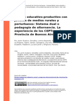 2019) Modelo educativo-productivo con jovenes de medios rurales y periurbanos Sistema dual o (..)