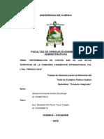COSTOS ABC VANSERVICE INTERNACIONAL CIA LTDA 2016