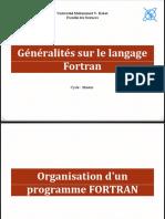 PRESENTATION INITIATION FORTRAN