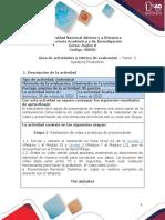 Guia de actividades y Rúbrica de evaluación- Speaking Production