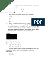 lista de exercicio - hibridização quimica