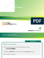 Selling Genuine Office 2010 - Thru Disti