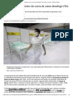 Achatamento da curva de casos desafoga UTIs em Minas - Gerais - Estado de Minas