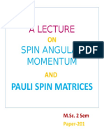 A lecture on Spin momentum
