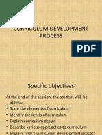 curriculum development process