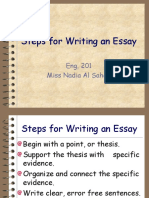 Steps - Essay Writing