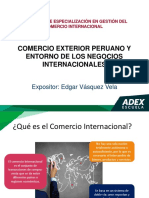 Comercio Exterior Peruano y Entorno de los Negocios Intern.