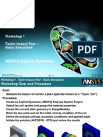 ANSYS Explicit Dynamics 120 Workshop 01