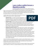 Herramientas para realizar análisis forenses a dispositivos móviles