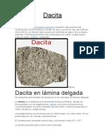 CARACTERISTICAS GENERALES DE LA DACITA