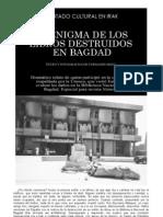 Atentado cultural en Irak - El enigma de los libros destruidos en Bagdad - Texto y fotografías de Fernando Báez