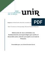 Actividades Neuropsicologica Para El Desarrollo Motor, Lateral y Perceptivo