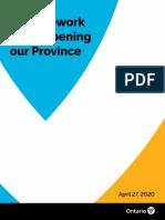 Ontario COVID-19 Framework (April 2020)