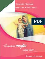 Libretto Rosario in Famiglia Per Le Vocazioni