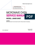 Microwave Oven LG LMAB1240_Service_Manual