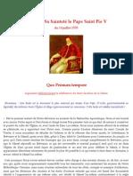 Quo Primum Tempore - Saint Pie V