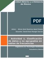 Actividad 1. Clasificación de datos y no agrupados en tablas de frecuencias.docx