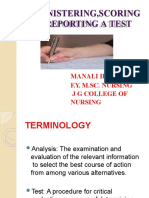 administering scoring and reporting a test ppt