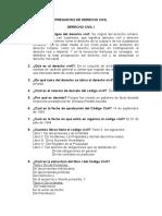 PREGUNTAS DE DERECHO CIVIL