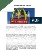 LIDERAZGO TRANSFORMACIONAL Y DIRECTIVO MCDONALDS