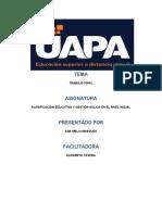 PLANIFICACION EDUCATIVA Y GESTION AULICA DEL NIVEL INICAL