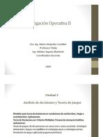 IO II- 5a clase teórica - Análisis de decisiones