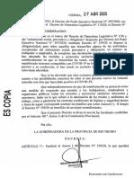 La nueva Declaración Jurada por el coronavirus en Río Negro