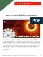 Sun In 1st House_Lagna_ Ascendant Love, Career, Marriage