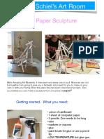 paper tube sculptures