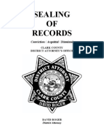 Sealing Records Book