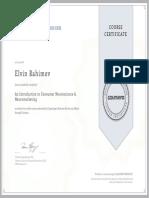 Coursera SZBCFDW2P7UY - Certificate